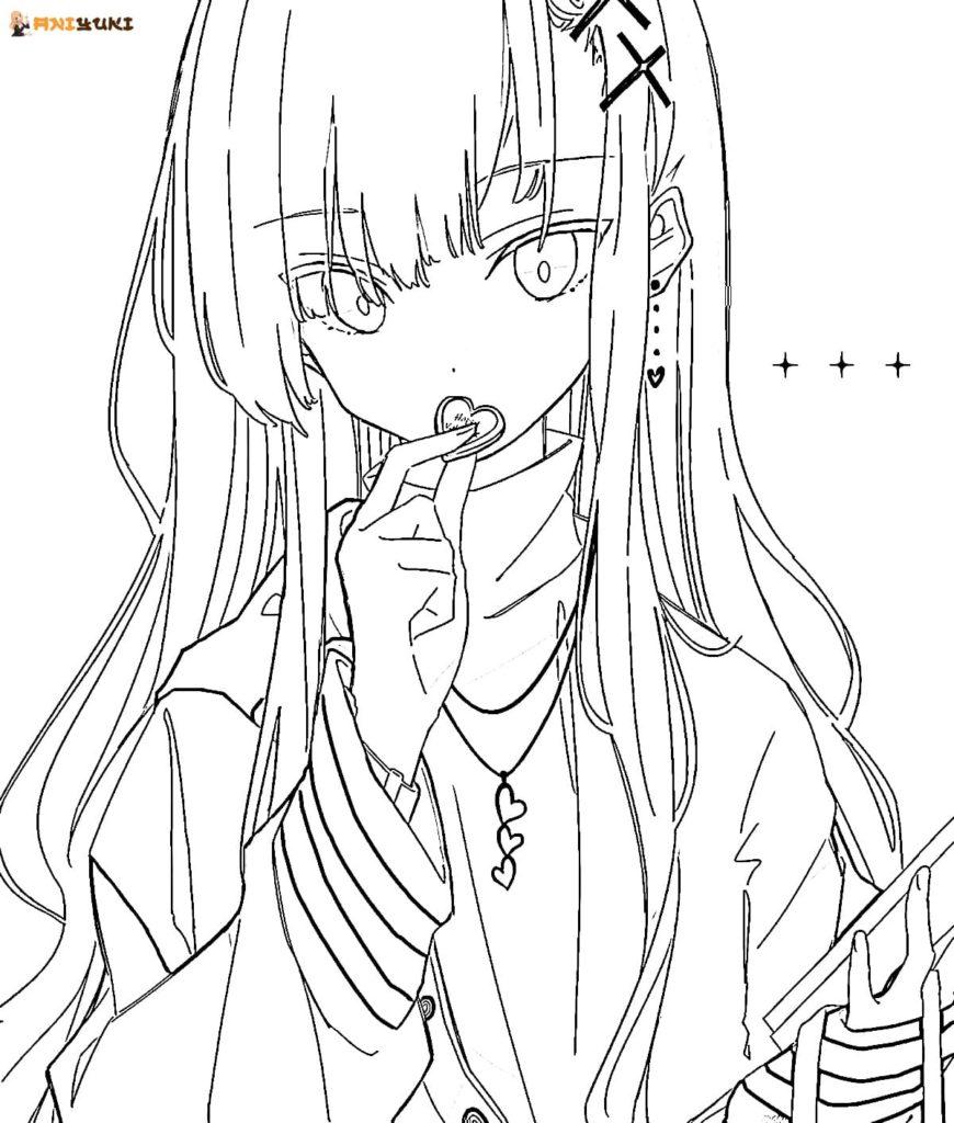 Ausmalbilder Anime Mädchen - 24 Malvorlagen zum Ausdrucken