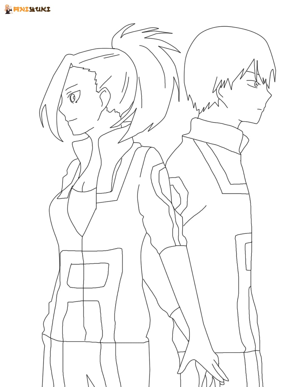 Ausmalbilder Momo Yaoyorozu - AniYuki - Anime Portal